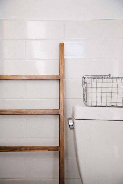échelle salle de bain