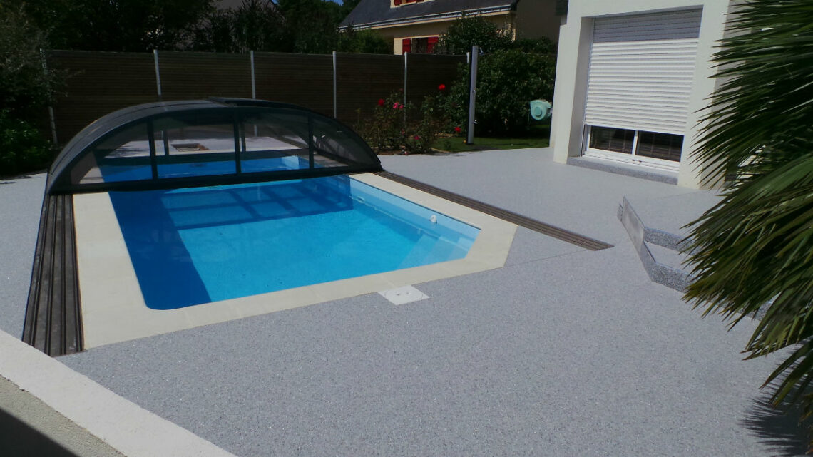 tapis de pierre plage piscine
